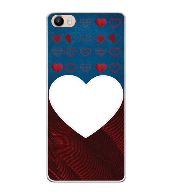 Hearts Photo Back Cover for Itel PowerPro P41