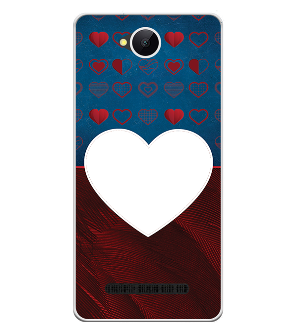 Hearts Photo Back Cover for Karbonn A45 Indian