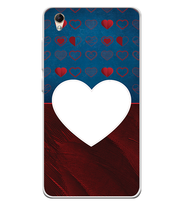 Hearts Photo Back Cover for Lava Z60