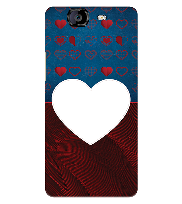 Hearts Photo Back Cover for Micromax A350 Canvas Knight