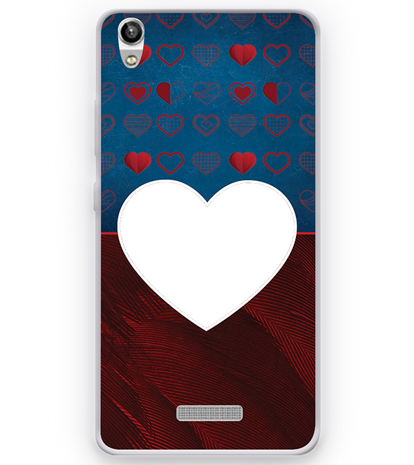 Hearts Photo Back Cover for Micromax Canvas Fire 5 Q386