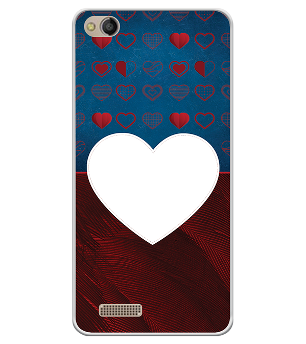 Hearts Photo Back Cover for Mobistar CQ Dual