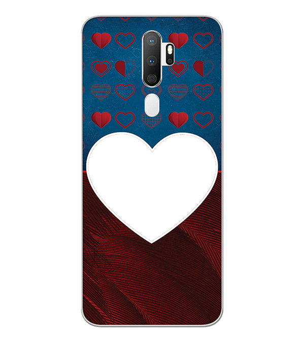 Hearts Photo Back Cover for Oppo A5 (2020)