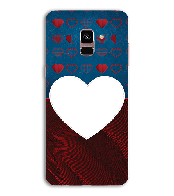 Hearts Photo Back Cover for Samsung Galaxy A8 (2018)