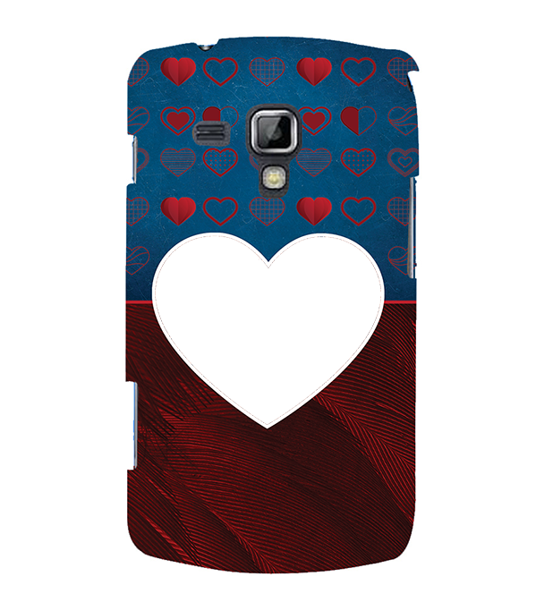 Hearts Photo Back Cover for Samsung Galaxy S Duos and S Duos 2