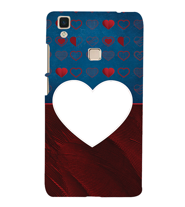 Hearts Photo Back Cover for Vivo V3Max