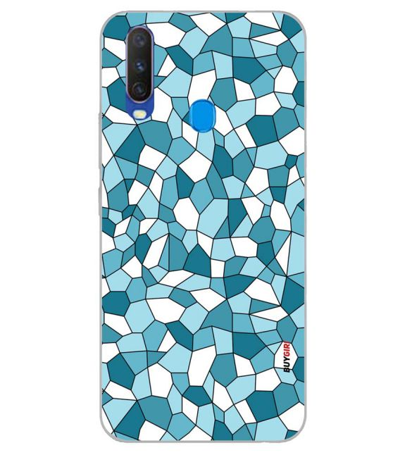 Blue Mosaic Back Cover for Samsung Galaxy A60