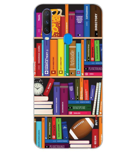 Books Back Cover for Samsung Galaxy A60