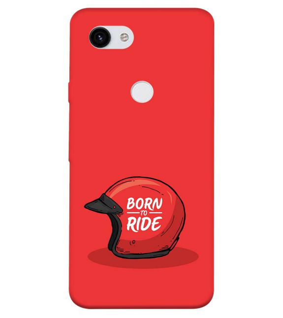 Born 2 Ride Back Cover for Google Pixel 3a