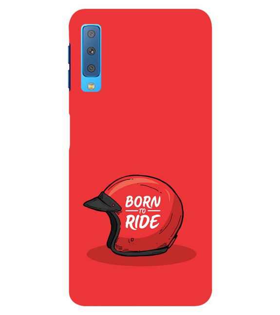 Born 2 Ride Back Cover for Samsung Galaxy A7 (2018)