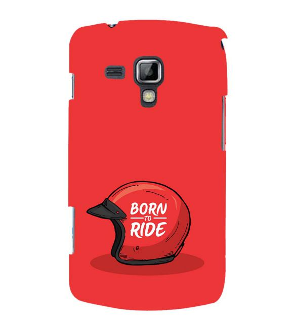 Born 2 Ride Back Cover for Samsung Galaxy S Duos and S Duos 2