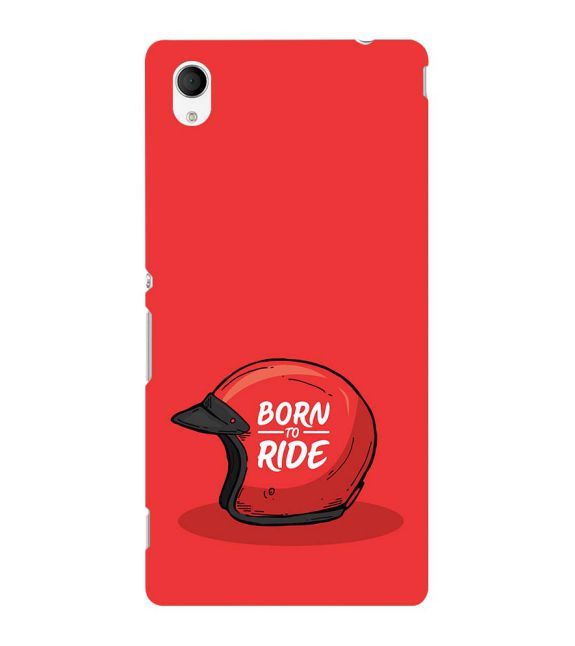 Born 2 Ride Back Cover for Sony Xperia M4 Aqua