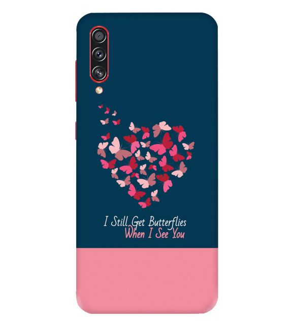 Butterflies on Seeing You Back Cover for Samsung Galaxy A70s