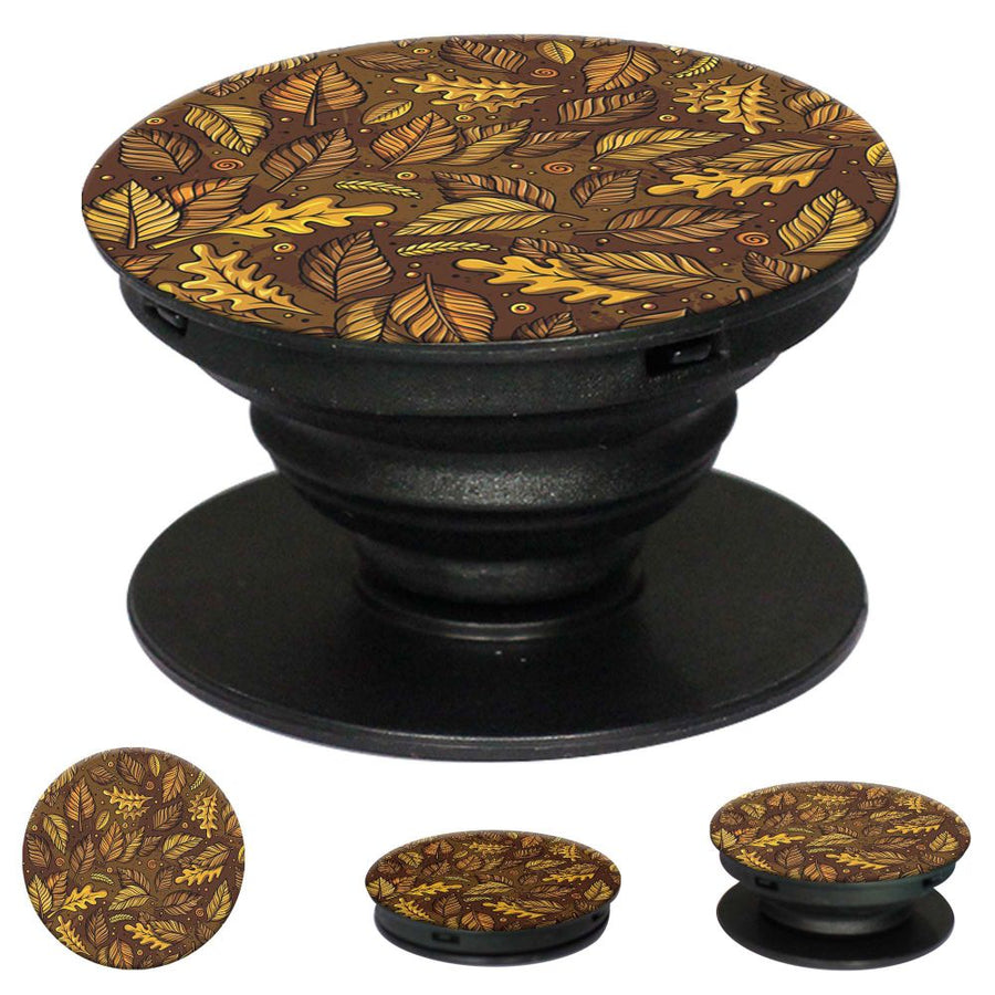 Autumn Leaves Mobile Grip Stand (Black)