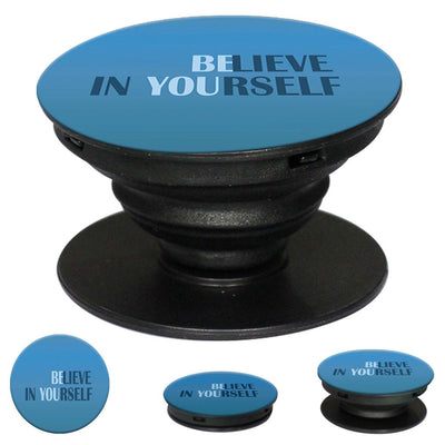 Believe in Yourself Mobile Grip Stand (Black)-Image2