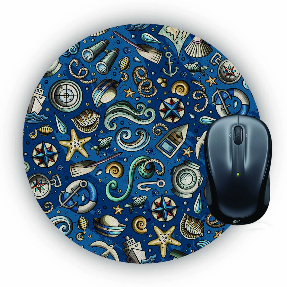 Cool Blue Mouse Pad (Round)