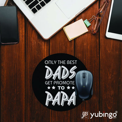 Dad and Papa Mouse Pad (Round)-Image2