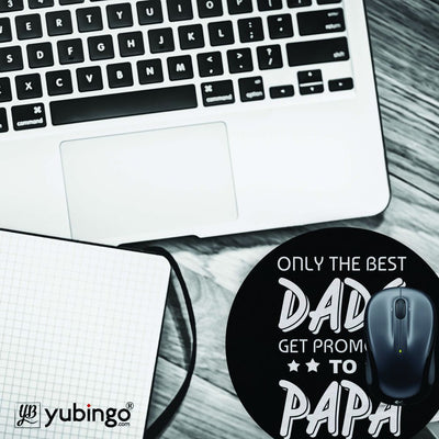 Dad and Papa Mouse Pad (Round)-Image4