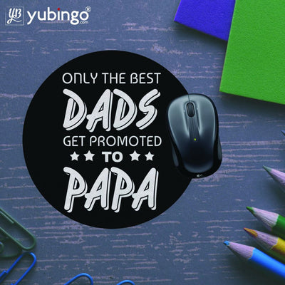 Dad and Papa Mouse Pad (Round)-Image5