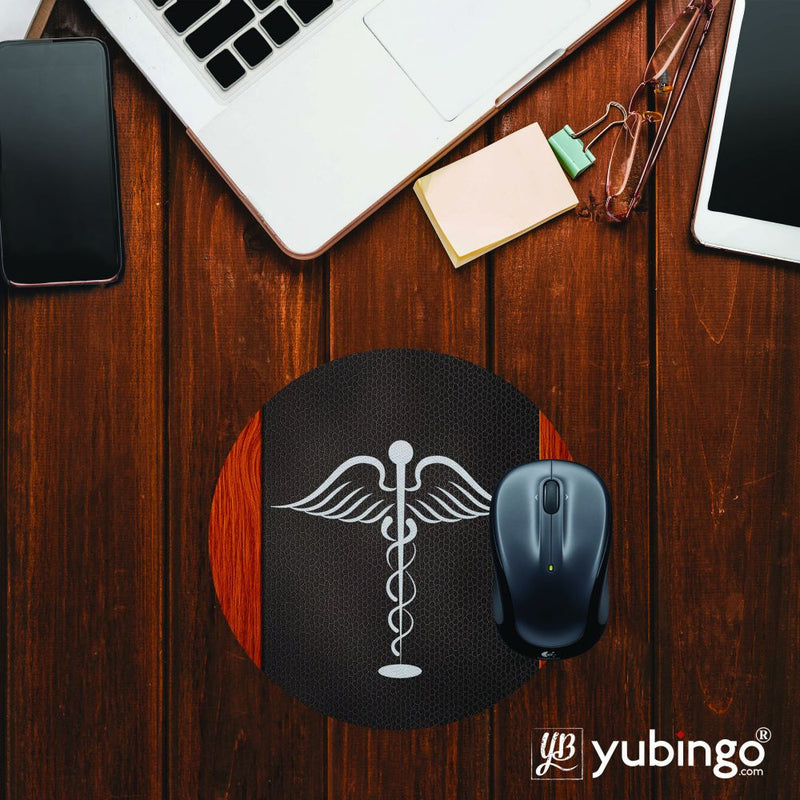 Doctor Symbol Mouse Pad (Round)