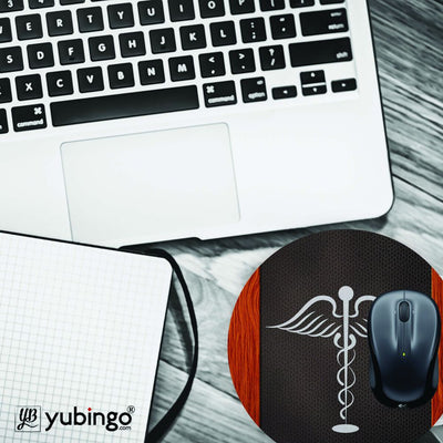 Doctor Symbol Mouse Pad (Round)-Image4