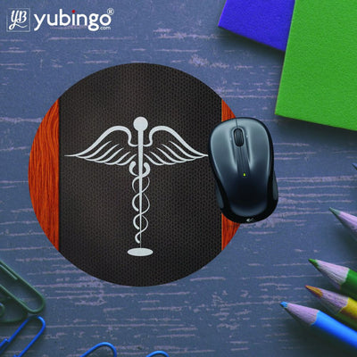 Doctor Symbol Mouse Pad (Round)-Image5