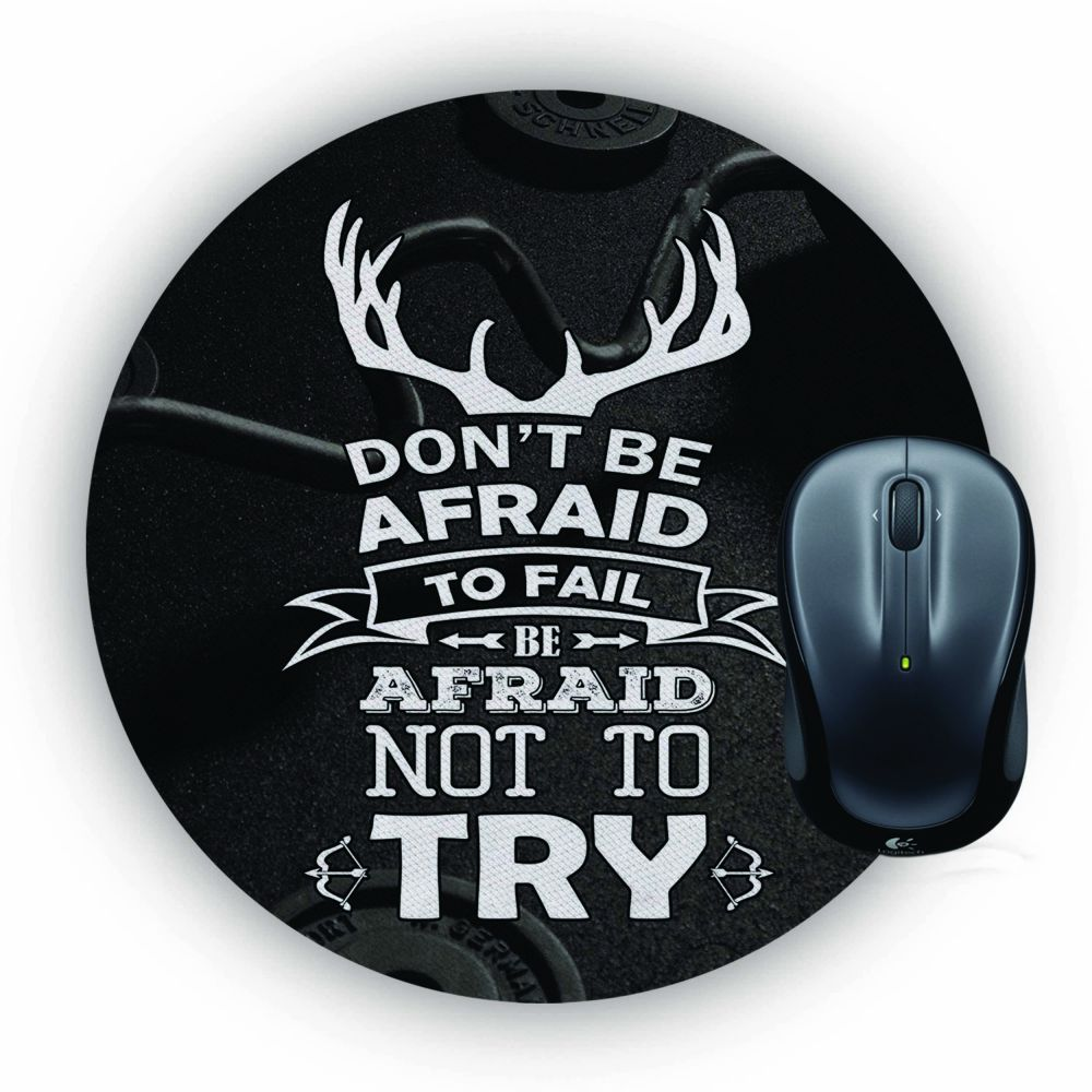 Keep Trying Mouse Pad (Round)