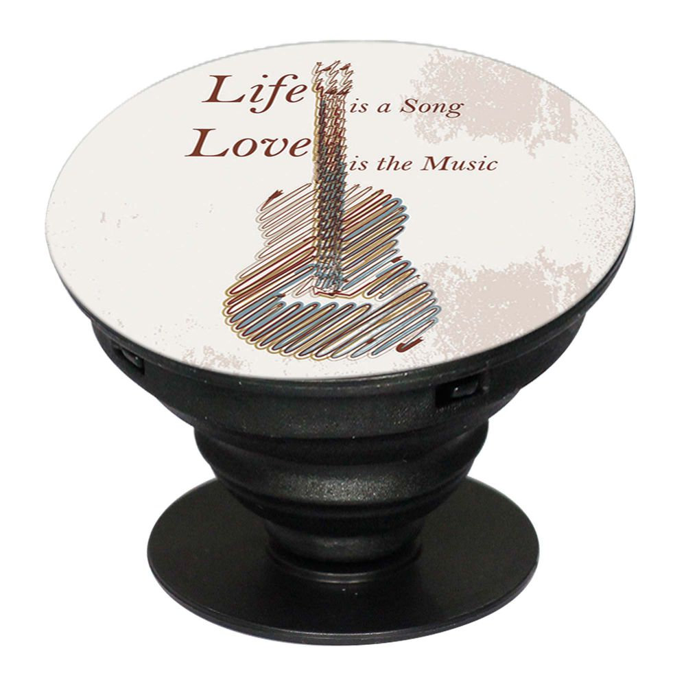 Life is a Song Mobile Grip Stand (Black)