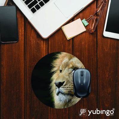 Lion Mouse Pad (Round)-Image2