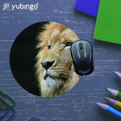Lion Mouse Pad (Round)-Image5