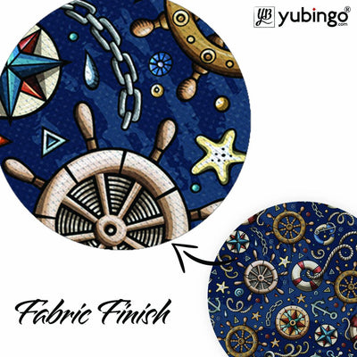 Nautical Blue Mouse Pad (Round)-Image3