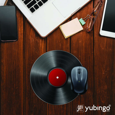 Record Player Mouse Pad (Round)-Image2
