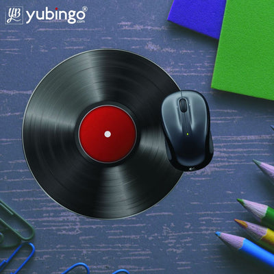 Record Player Mouse Pad (Round)-Image5