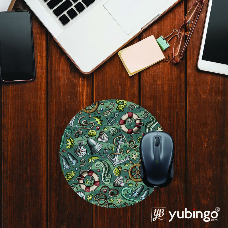 Sea Green Mouse Pad (Round)
