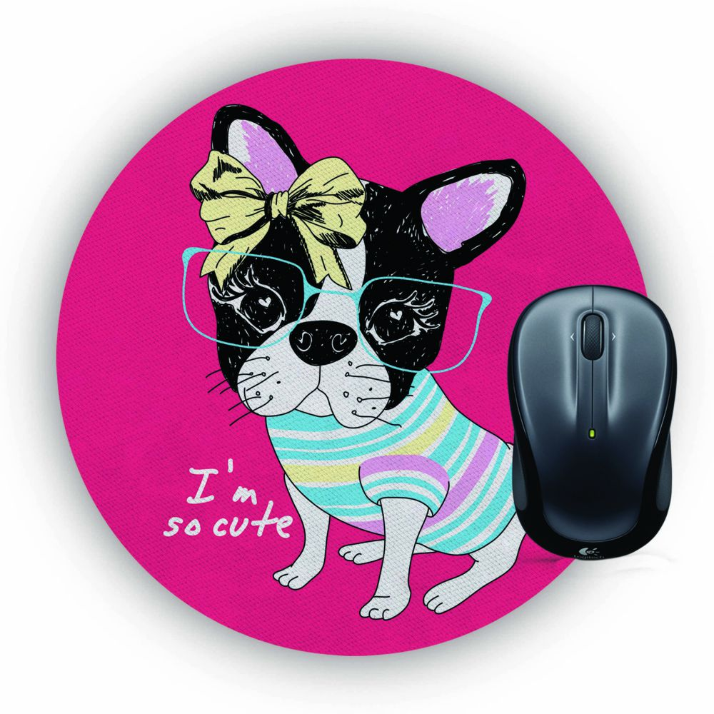 So Cute Mouse Pad (Round)
