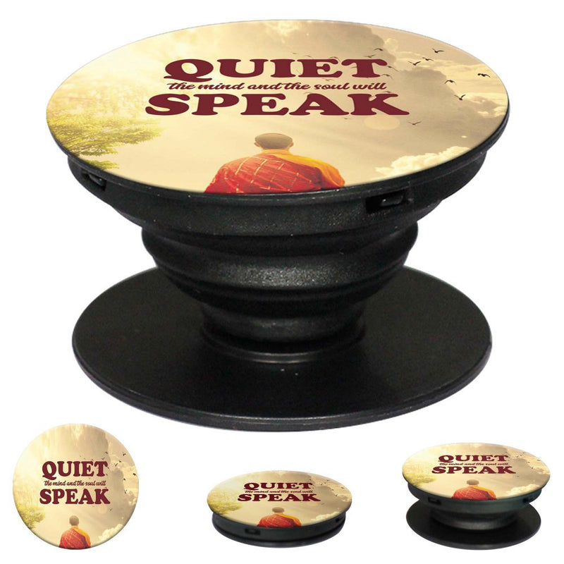 Soul Will Speak Mobile Grip Stand (Black)