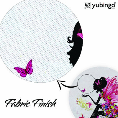 The Pixie With Her Butterflies Mouse Pad (Round)-Image3