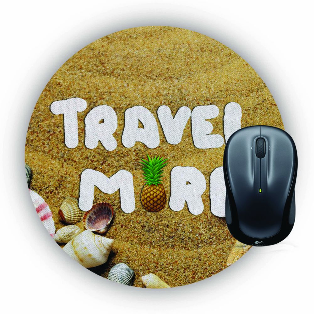 Travel More Mouse Pad (Round)