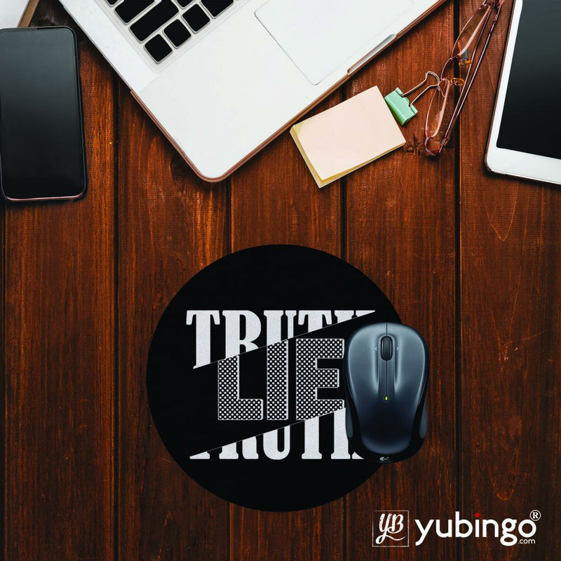 Truth and Lie Mouse Pad (Round)