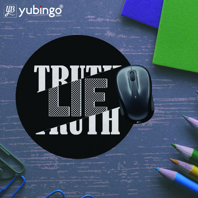 Truth and Lie Mouse Pad (Round)-Image5