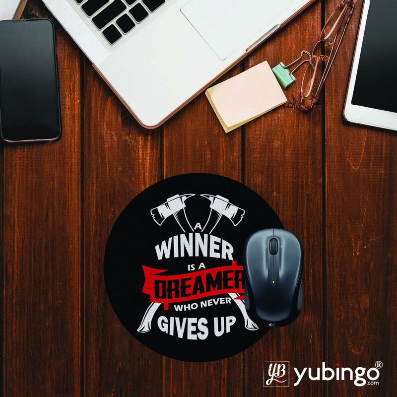 Winner is Dreamer Mouse Pad (Round)