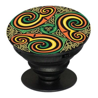 Wonder Pattern Mobile Grip Stand (Black)