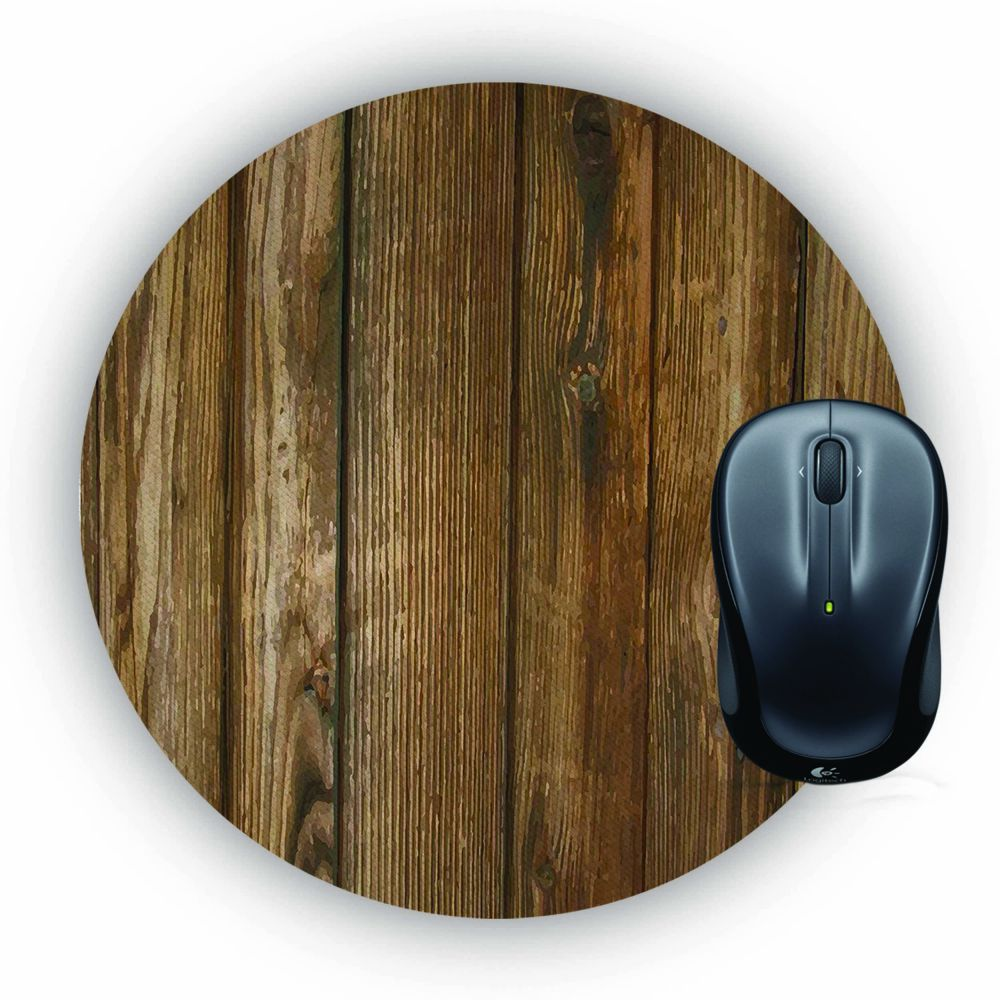 Wooden Pattern Mouse Pad (Round)