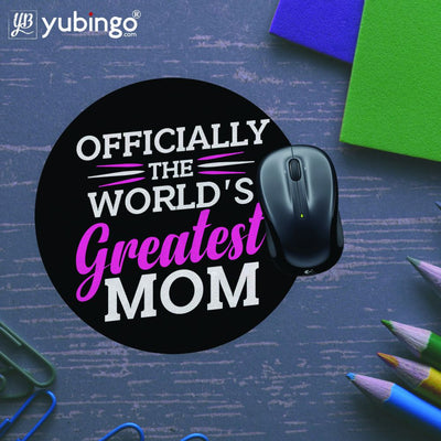 World's Greatest Mom Mouse Pad (Round)-Image5