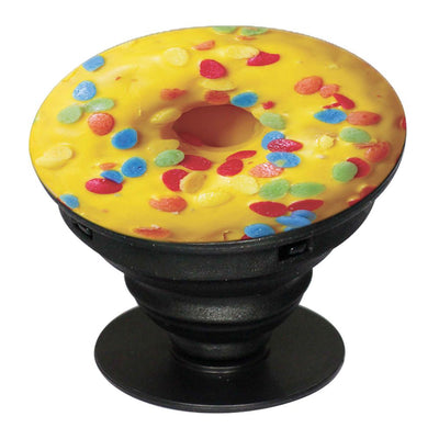 Yellow Doughnut Mobile Grip Stand (Black)