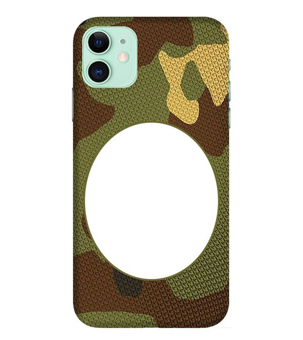 Camouflage Photo Back Cover for Apple iPhone 11