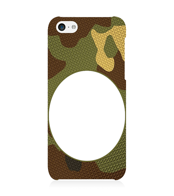 Camouflage Photo Back Cover for Apple iPhone 5c