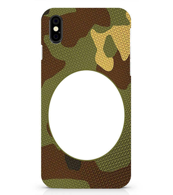 Camouflage Photo Back Cover for Apple iPhone X