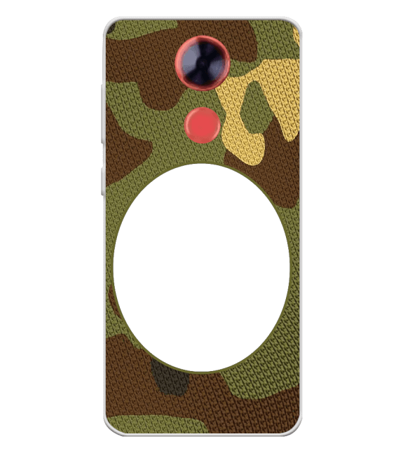Camouflage Photo Back Cover for Comio X1