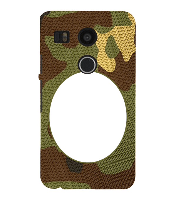 Camouflage Photo Back Cover for Google Nexus 5X